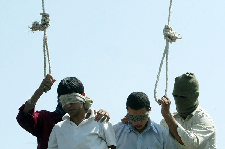 hanged publicly