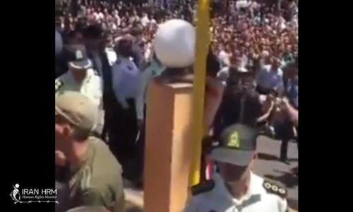Iran: A man was publicly flogged for drinking liquor