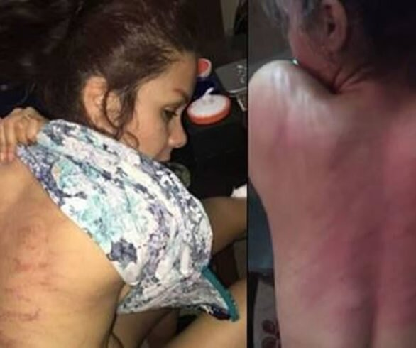 lashes carried out on Leila Bayat