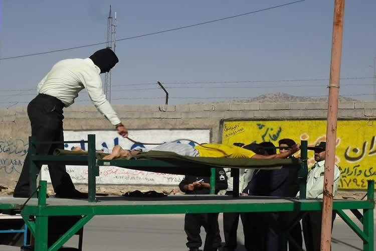 publicly flogged