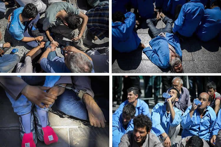 Iran Regime Parades Shackled Youths in Despicable Form of Punishment