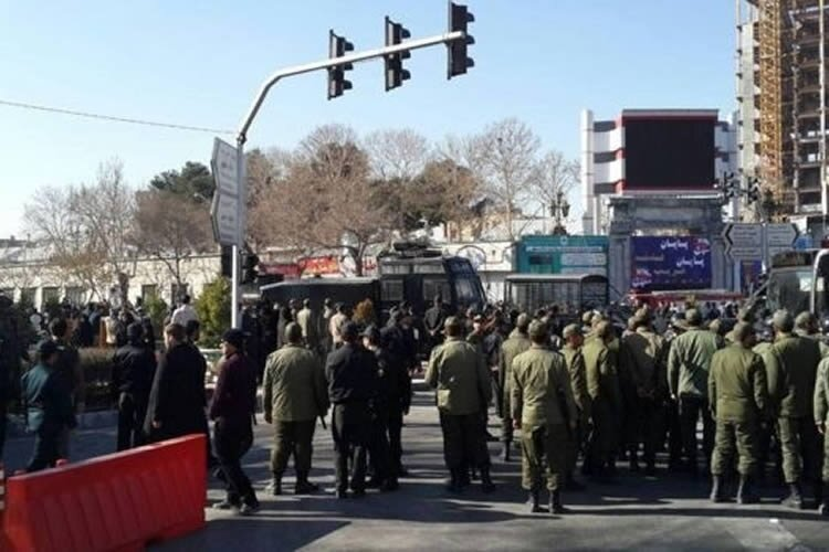 decisive measures against Iran protest