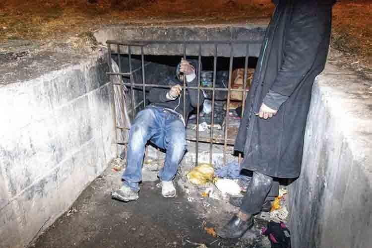 sewage canal dwellers