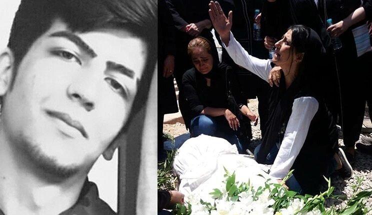 funeral procession of political prisoner Alireza Shir-Mohammad-Ali