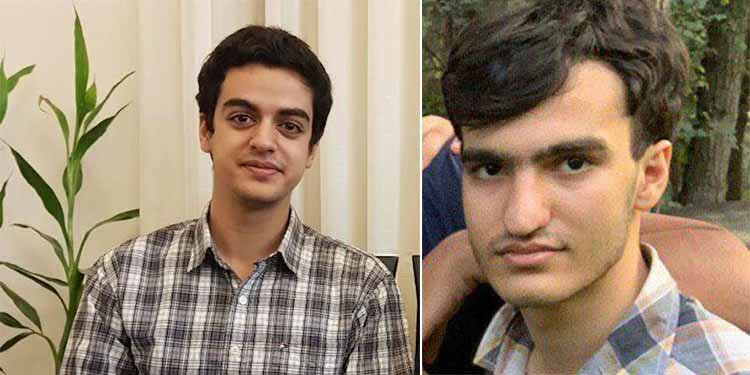 Detained award-winning Iranian students Ali Younesi and Amir Hossein Moradi