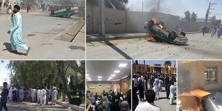 Iran security forces fire tear in Saravan
